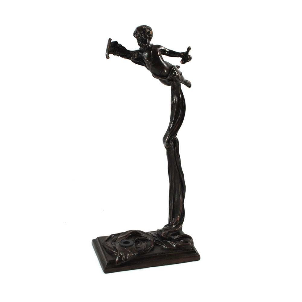 World Artisan Violin Stand – Greek Harpist – Aged Bronze